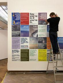 Bozar poster installation Wolfgang Tillmans